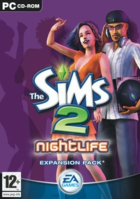 The Sims 2: Nightlife box art packshot