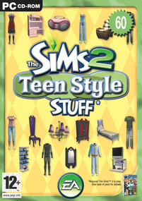 The Sims 2: Teen Style Stuff box art packshot