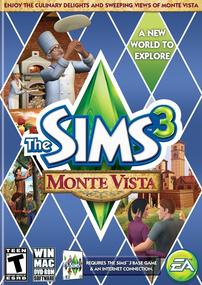 The Sims 3: Monte Vista box art packshot