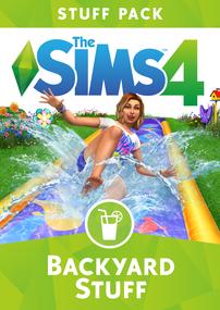 The Sims 4: Backyard Stuff box art packshot