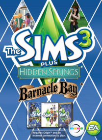 The Sims 3 Plus Hidden Springs and Barnacle Bay packshot box art
