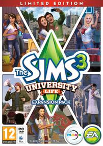 The Sims 3: University Life (Limited Edition) packshot box art