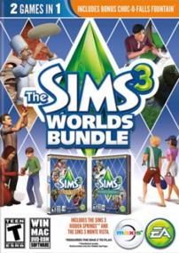 The Sims 3: Worlds Bundle packshot box art