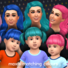 Maxis Matching Pigtails Hairdo for Toddlers