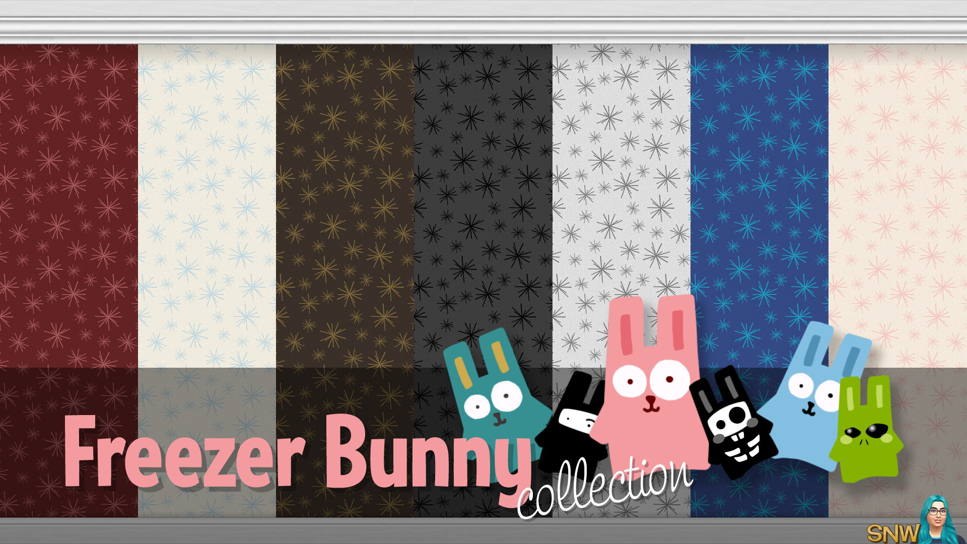 Freezer Bunny Collection: Starburst Wallpapers