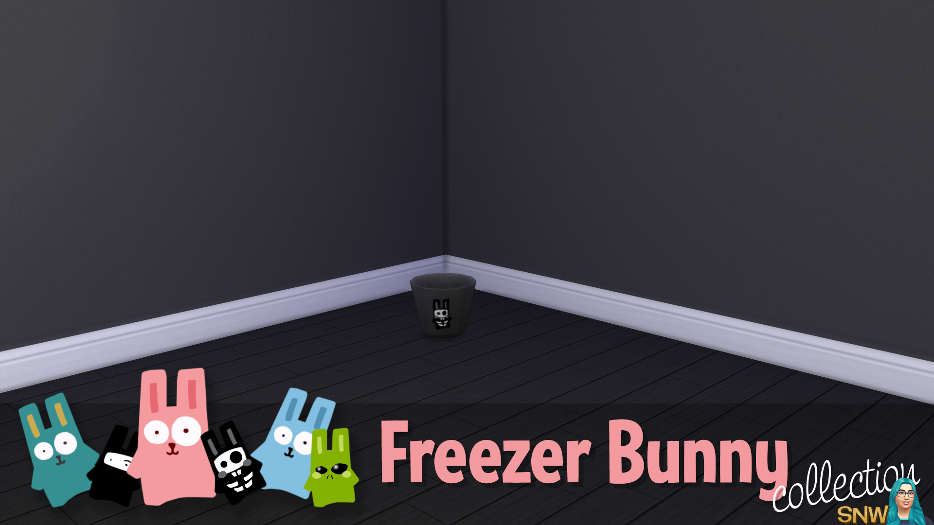 Freezer Bunny Collection: Trash Can