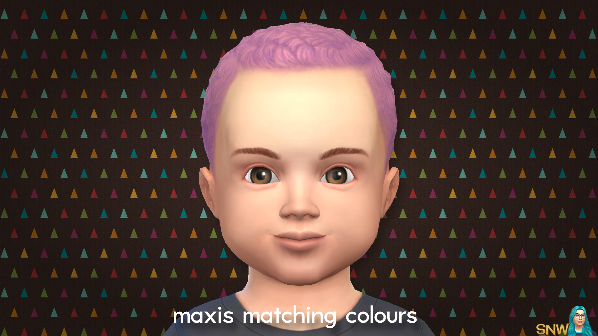 Maxis Matching Curls Short Hairdo for Toddlers