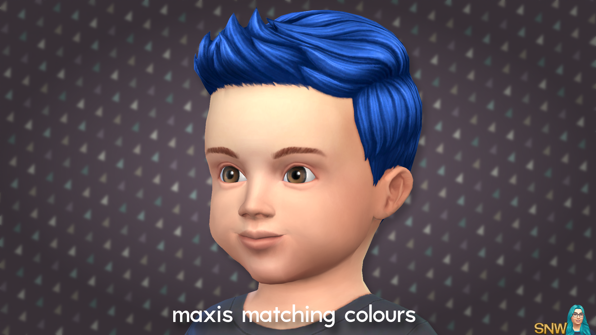 Maxis Matching Short Spiky Hairdo for Toddlers