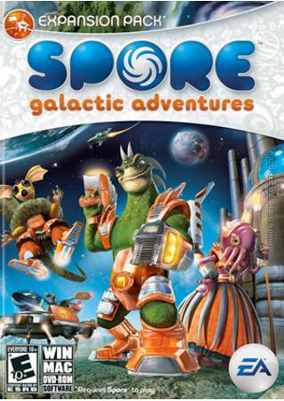 Spore: Galactic Adventures box art packshot