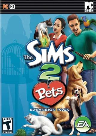 The Sims 2: Pets box art packshot US