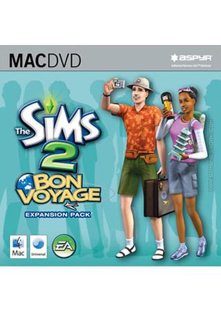 The Sims 2: Bon Voyage for Mac box art packshot jewel case