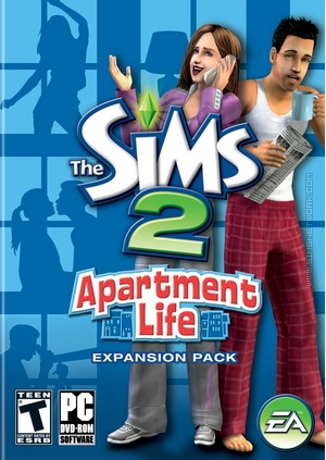 The Sims 2: Apartment Life box art packshot US