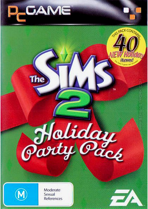 The Sims 2: Holiday Party Pack box art packshot