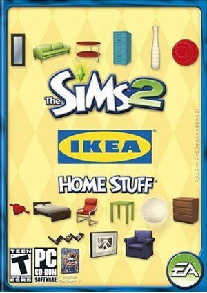 The Sims 2: IKEA Home Stuff box art packshot US