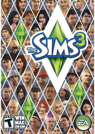 The Sims 3 box art packshot
