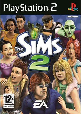 The Sims 2 on Playstation 2 PS2 Packshot Box Art