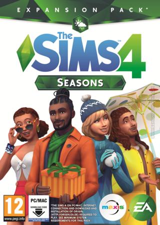 The Sims 4: Seasons box art packshot cover