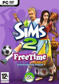 The Sims 2: FreeTime box art packshot