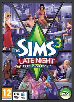 The Sims 3: Late Night box art packshot
