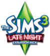 The Sims 3: Late Night logo