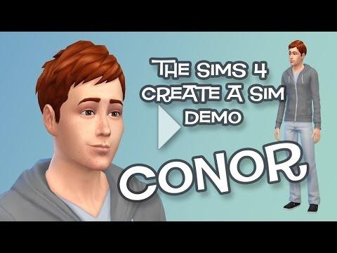 Conor O'Shea in The Sims 4 CAS Demo